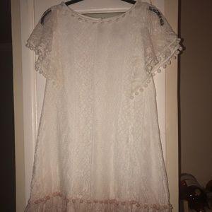 White Lace Dress- Large- NWT
